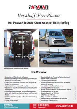 Flyer Paravan Tourneo Connect Heckeinstieg